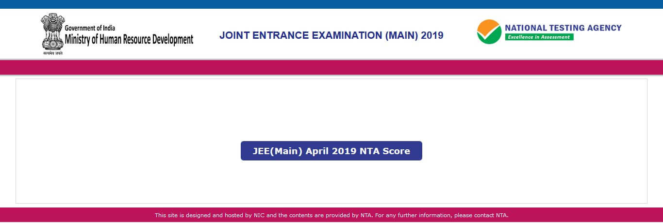 NTA JEE Main Result 2019 out on jeemain.nic.in - जेईई मेन Sarkari Result