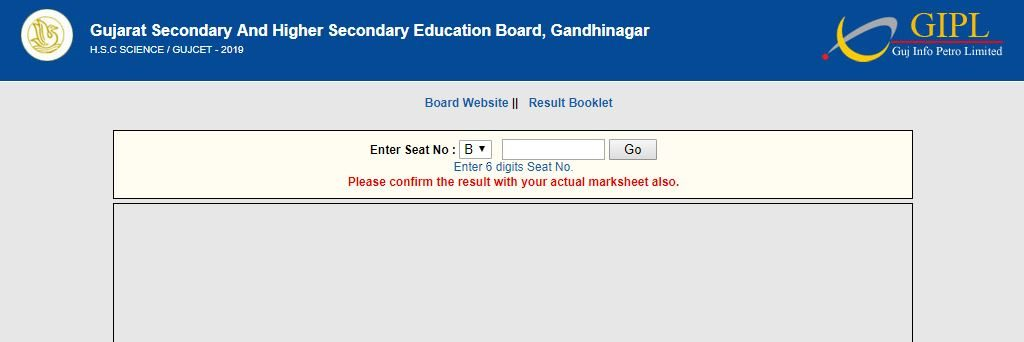 Gujarat Board 12th Science Sarkari result 2019 gseb official