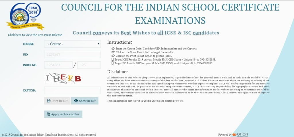ICSE/ ISC Result 2019 declared - CISCE Board Delhi Sarkari Result