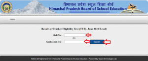 HP TET Result 2020 by HPBOSE