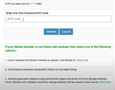 step 3 Udyog Aadhar Registration Online Process