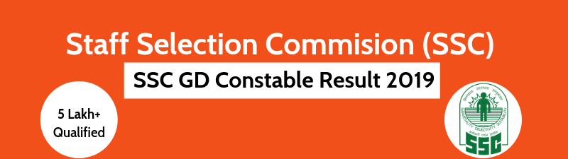 SSC GD Constable Result 2019 Declared - 5 Lakh+ qualified for PET/ PST